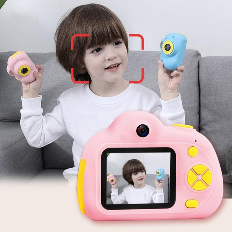 Enfants jouet caméras 16G 2 pouces HD écran 800W Pixel numérique Mini caméra pour enfants + lecteur de carte carte mémoire caméra numérique - 3