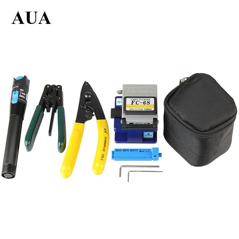 Free shipping Fiber Optic Tool 5 in 1 FTTH Splice fiber optic tool kits Fibre stripper