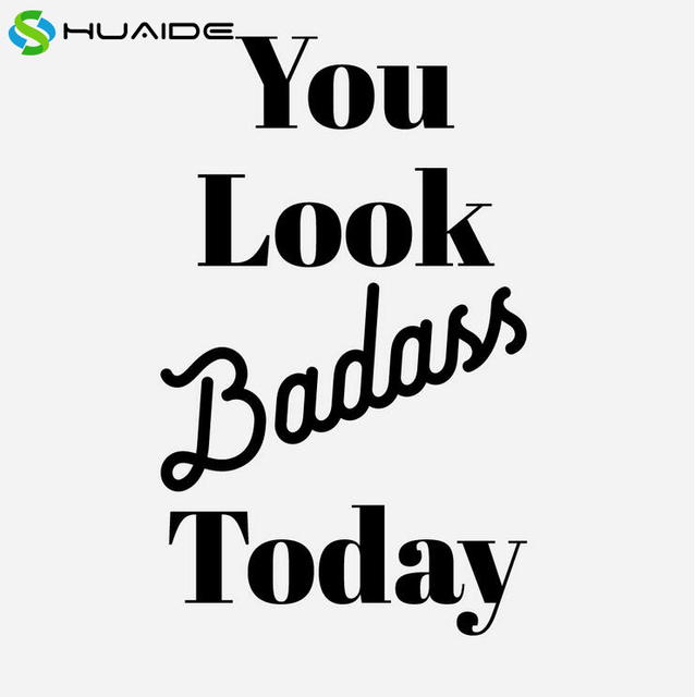 You Look Badass Today Wall Stickers Vinyl Words Wall Art Vinilos Paredes Mural Glss Door Bathroom  sc 1 st  AliExpress.com & You Look Badass Today Wall Stickers Vinyl Words Wall Art Vinilos ...