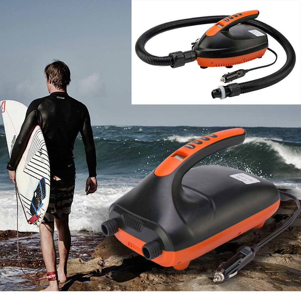 Умный надувной насос SUP Max, 12 В, 16/20 PSI, электрический воздушный насос, двухступенчатый, для весла на открытом воздухе