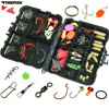 128Pcs Fishing Tackle Set Fishing Jigs Hooks Spoons Swivels Snap Glow Beads Weight Sinker Fishing Accessories