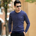 Separador de Color Pullover Hombres Suéter Hombres Famosa Marca de Alta calidad Con Cuello En V Suéteres Homme Casual de Negocios Slim Fit Suéteres