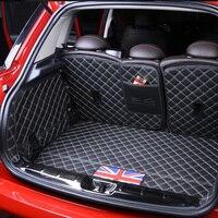 Wasserdichte Leder Auto Kofferraum Boden Matte Boot Cargo Liner Fach Teppich Protector Für BMW Mini Cooper 5 Türen F55 styling auf