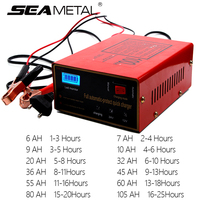 Car Battery Charger 12v/24v 10A 6 105AH EU Plug Charger Lead Acid Motorcycle Universal Charger 50HZ Pulse Repair Type Automatic