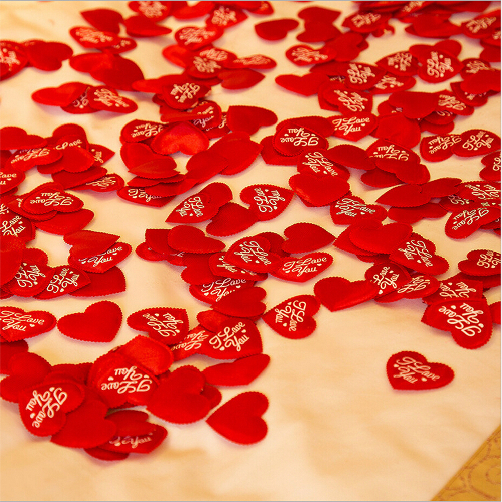 hot casamento 100pcs i love you heart symbol wedding flower petals