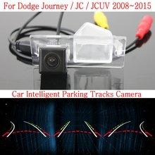 Автомобиль Интеллектуальные Парковка Треки Камеры ДЛЯ Dodge Journey/JC/JCUV 2008 ~ 2015/HD Резервного копирования Камера Заднего Вида/Заднего вида камера