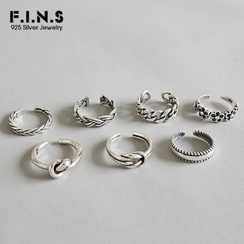 7de112eff563 F.I.N.S de Plata de Ley 925 de moda de mujer 2019 anillos anillo Multi  Styles ajustable anillos anillo del dedo del pie playa pie joyería