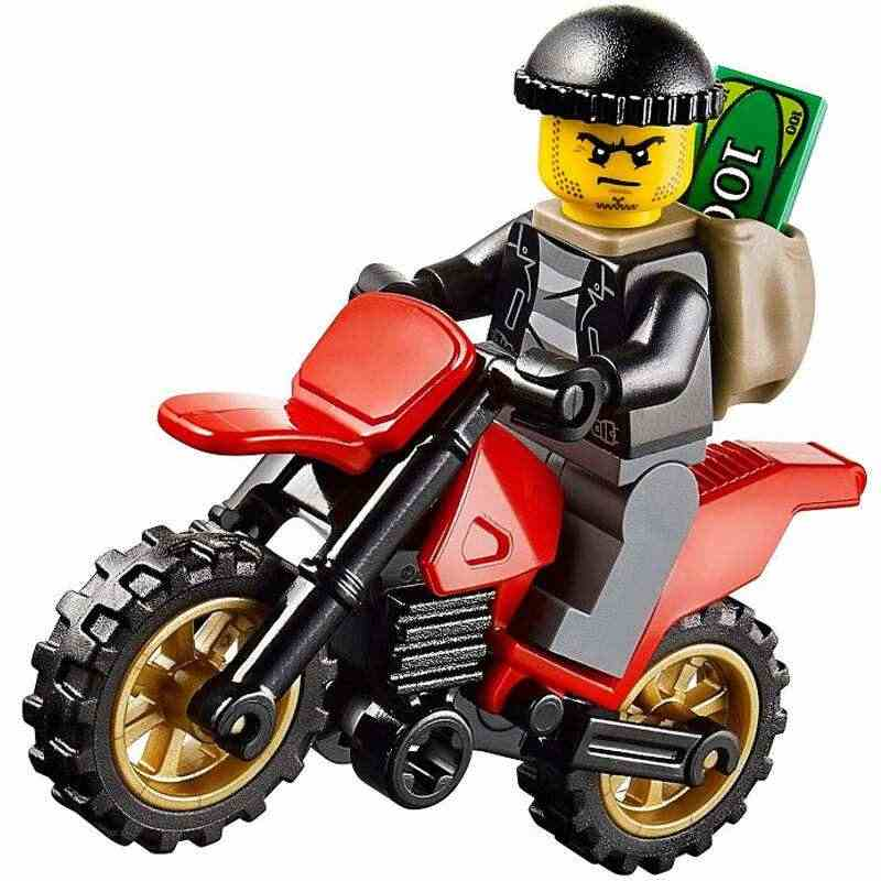 11.11 Motorcycle Racing Two Model Six Colors Building Blocks Compatible Legoed City Figures Trucks Bricks Children Toys