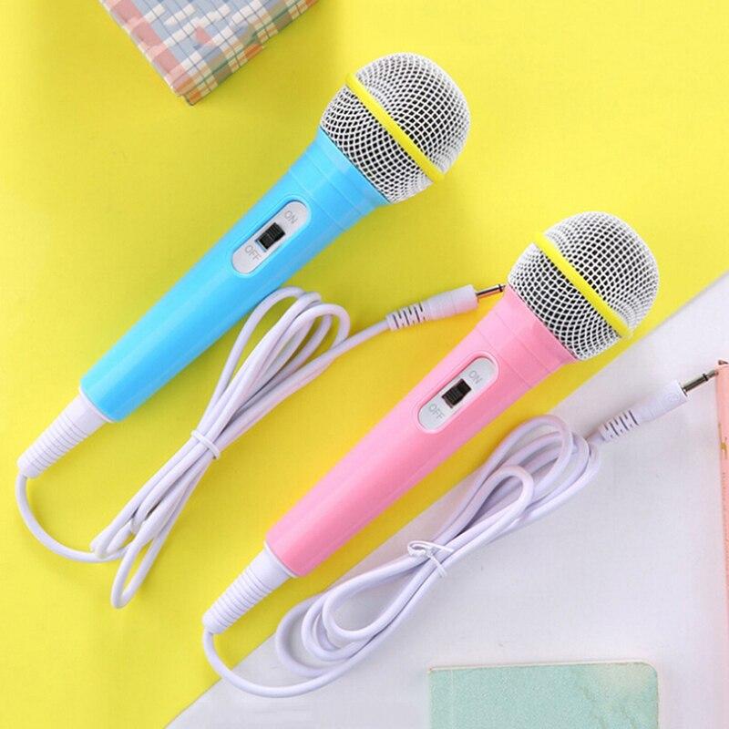 Microfone com fio brinquedo instrumento musical karaoke cantando música brinquedo microfone brinquedo crianças presente de natal criança engraçado