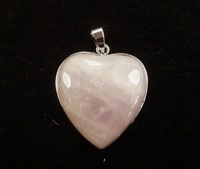 Discount 2015 High Quality Free Shipping Fashion 3pcs Rose Quartz Heart Pendant 35x32mm AAA Wholesale And