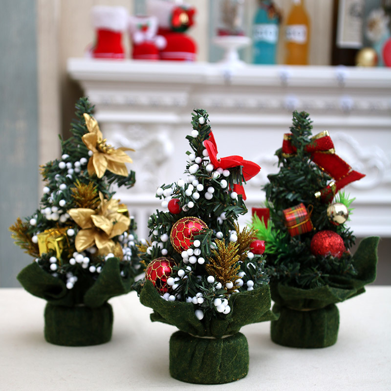Mini Christmas Tree Ornaments Artificial Xmas Small Pine Decorations  Desktop Christmas Festival Party Home Decor-in Trees from Home & Garden on  ... - Mini Christmas Tree Ornaments Artificial Xmas Small Pine Decorations