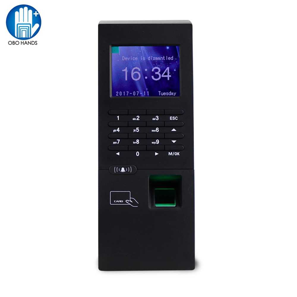 Standalone Fingerprint Reader Time Attendance Machine RFID Finger 2.8 inch Lock Access Control Password Unlock For Entry System цены