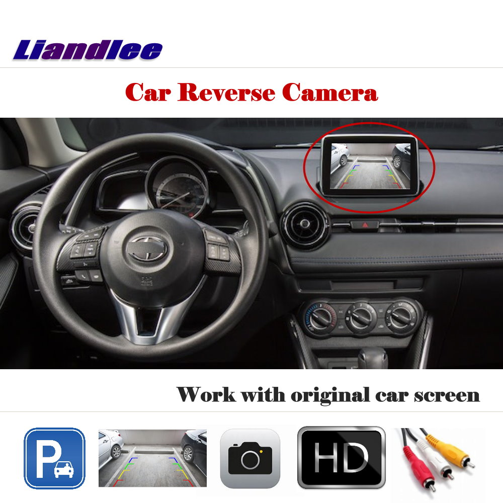 Liandlee For Scion iA Toyota Yaris 2013-2017 / Auto Back Up Camera Rearview Reverse Parking Work with Car Factory Screen