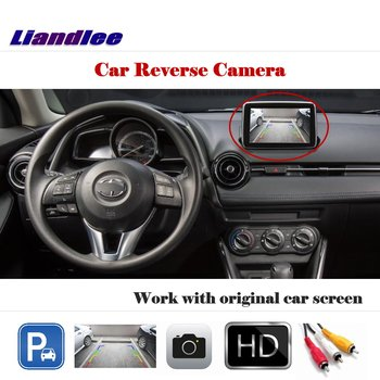 Liandlee For Toyota Yaris For Scion iA 2013-2017 / Auto Back Camera Rearview Reverse Parking Camera Work with Car Factory Screen image