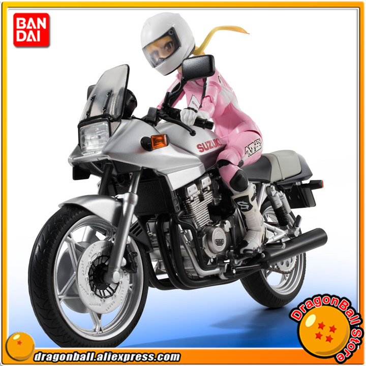 Anime Bakuon!! Original BANDAI Tamashii Nations S.H.Figuarts / SHF Action Figure - Rin Suzunoki (Rider Suit) & GSX 400S KATANA 100% original bandai tamashii nations s h figuarts shf action figure rin suzunoki rider suit