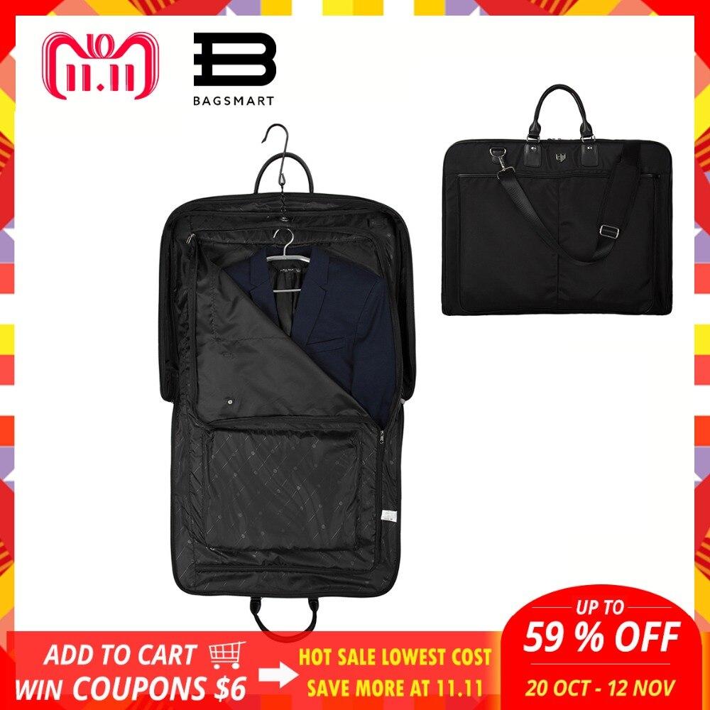 BAGSMART 2018 Impermeabile In Nylon Nero Sacchetto di Indumento Con Maniglia Vestito Leggero sacchetto di Affari Del Sacchetto Degli Uomini Borse Da Viaggio Per I Vestiti