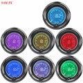 "Apoyo EE 2 ""52mm Azul Rojo de 7 Colores Auto LED Volt Medidor Digital Medidor de Voltaje Del Coche Tint Len XY01"