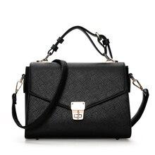 Fashion Women Vintage Handbag Female Leather Casual Tote Bag for Girls Women Messenger Shoulder Bags Purse 2018 Black New Bags