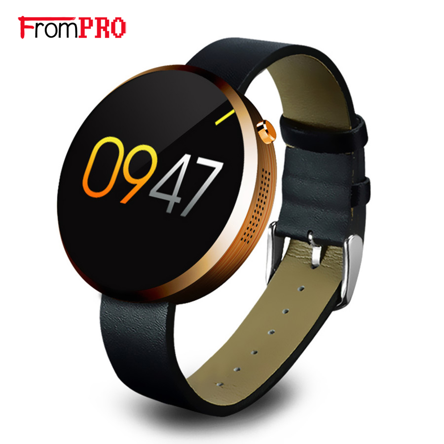 FROMPRO DM360 Bluetooth Smart Watch Health Metal Smartwatch Fitness Tracker App for Apple iPhone ios Android Remote Camera Clock 2016 newest sport lady smart watch lem2 full ips screen bluetooth girl smartwatch fitness tracker app for ios android pk m8 lem1