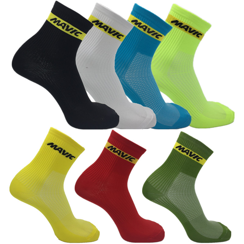 Outdoor Men Cycling Socks High Elasticity Soft Sport Socks  compression socks
