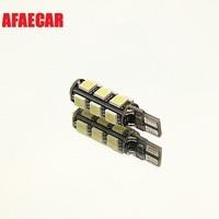 AFAECAR 50pc T10 Canbus Error Free T10 13SMD 5050 LED Bulbs For Car LIGHT