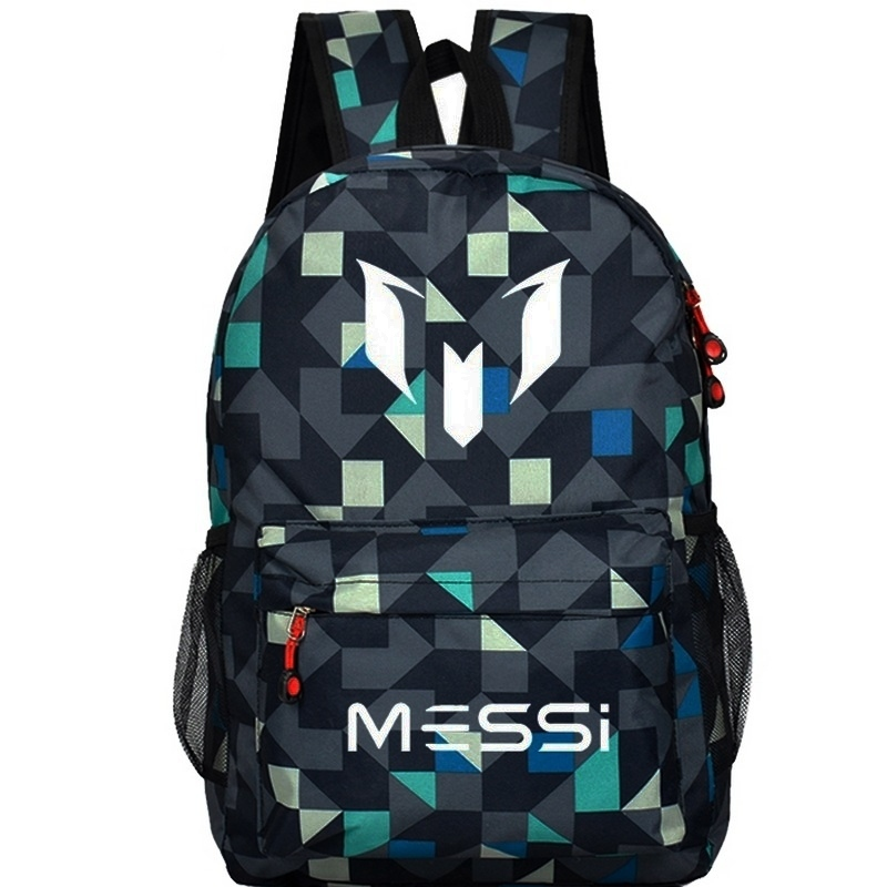 School Bag for Teenager Boy Rucksack Messi Backpack Teen Black Footbal Bag Men Back Pack Travel Gift Mochila Bolsas Kids Bagpack ...