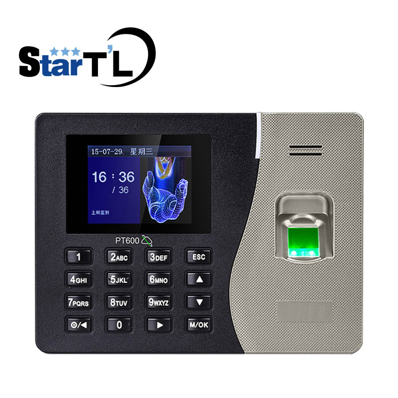 Cheapest Biometric Fingerprint Recognition PT600 Time Attendance Finger Print Time Clock 3