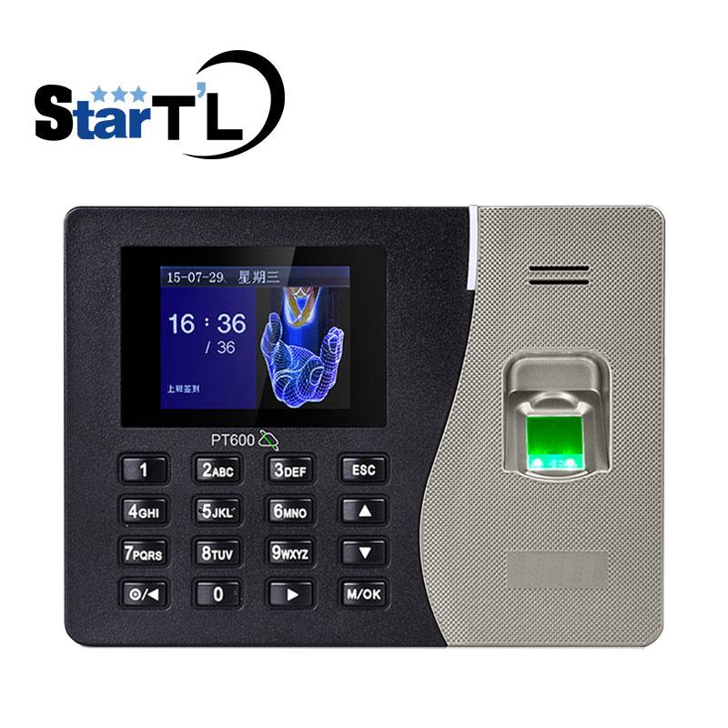 Cheapest Biometric Fingerprint Recognition PT600 Time Attendance Finger Print Time Clock 3