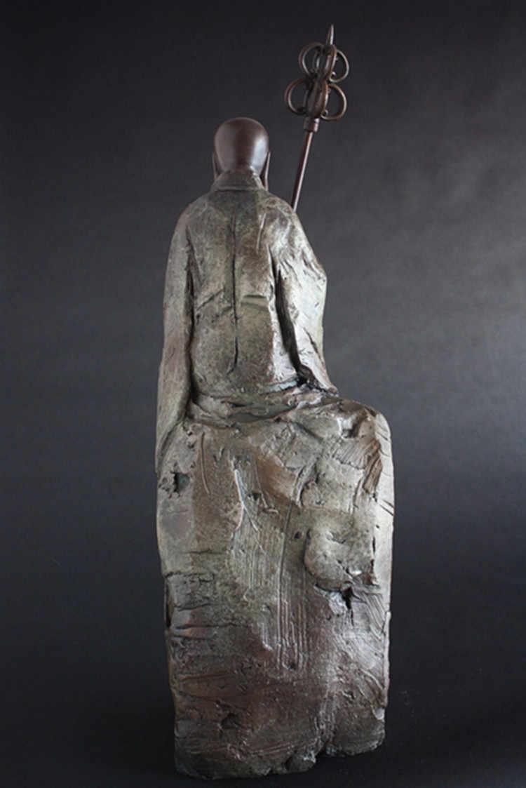 Perunggu Buddha Bodhisattva hiasan membuka jahat keberuntungan Wang Feng Shui temple bangunan alat ringan Dekorasi pernikahan Kuningan