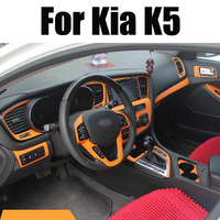 Car Styling Teeze Car Interior Center Console Color Change Carbon Fiber Molding Sticker Decals For Kia K5 2011 2015