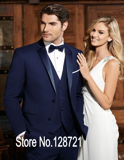 Handsome Mens Suits Groom Tuxedos Groomsmen Wedding Party Dinner ...