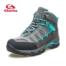 Clorts Autumn Winter High-Cut Hiking Boots for Men Women Uneebtex Waterproof Hiking Shoes Non-slip Outdoor Sneaker HKM-823 2017 clorts mens hiking shoes waterproof mountain shoes high cut outdoor climbing sports shoes for men free shipping hkm 822a