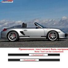 Автомобильная боковая юбка, наклейка для спортивного стайлинга автомобилей, индивидуальная виниловая наклейка на тело для Porsche 911 997 Boxster Cayenne