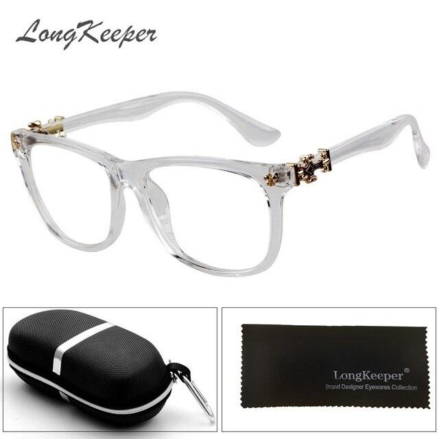 c1a705007b0ec8 LongKeeper New Women Eyewear Trend Men Retro Clear Glasses Brand Women  Spectacle Frame Vintage Optics Eyeglasses