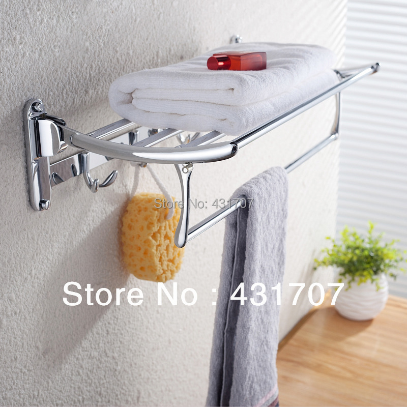 Wall Mounted Stainless Steel Double Deck Towel Racks Towel Holder With Hook Bathroom Shelf Fixtures Accessories, Chrome брелок для ключей joop брелок для ключей