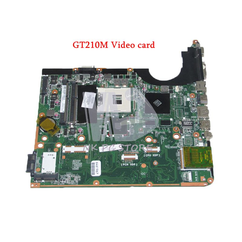 NOKOTION 580976-001 Laptop Motherboard For Hp pavilion DV6 DV6-2100 DA0UP6MB6F0 PM55 DDR3 GT210M Video card free shipping da0up6mb6f0 605698 001 for hp pavilion dv7 3000 laptop motherboard pm55 ddr3 suppy core i7 only geforce gt320m