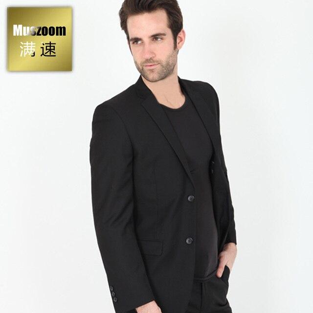 Venta caliente 2019 reunirse más cerca de € 69.6 |Woolen cloth top male suit outerwear blazer black fashion suit en  Blazers de La ropa de los hombres en AliExpress.com | Alibaba Group