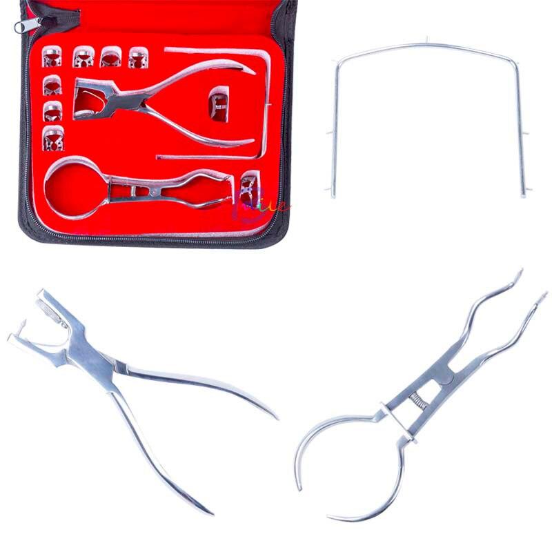 1 set haute qualité dentaire en caoutchouc barrage perforateur perforateur dents soins pinces dentiste laboratoire dispositif Instrument outils