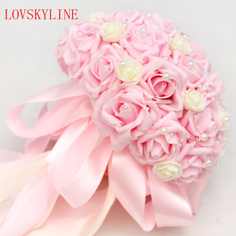 Wedding Bouquet Flowers Prices: Best Selling Price Pink Brooch Bouquet Wedding Bouquet De