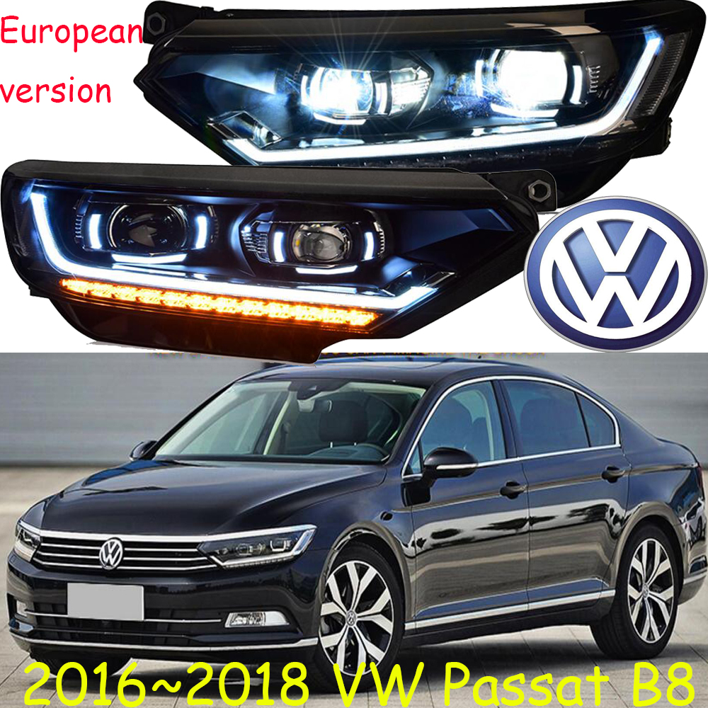 car-styling! Passat head light,2016~2018,Free ship!chrome,Passat fog lamp,chrome,LED,B8,Passat,Magotan