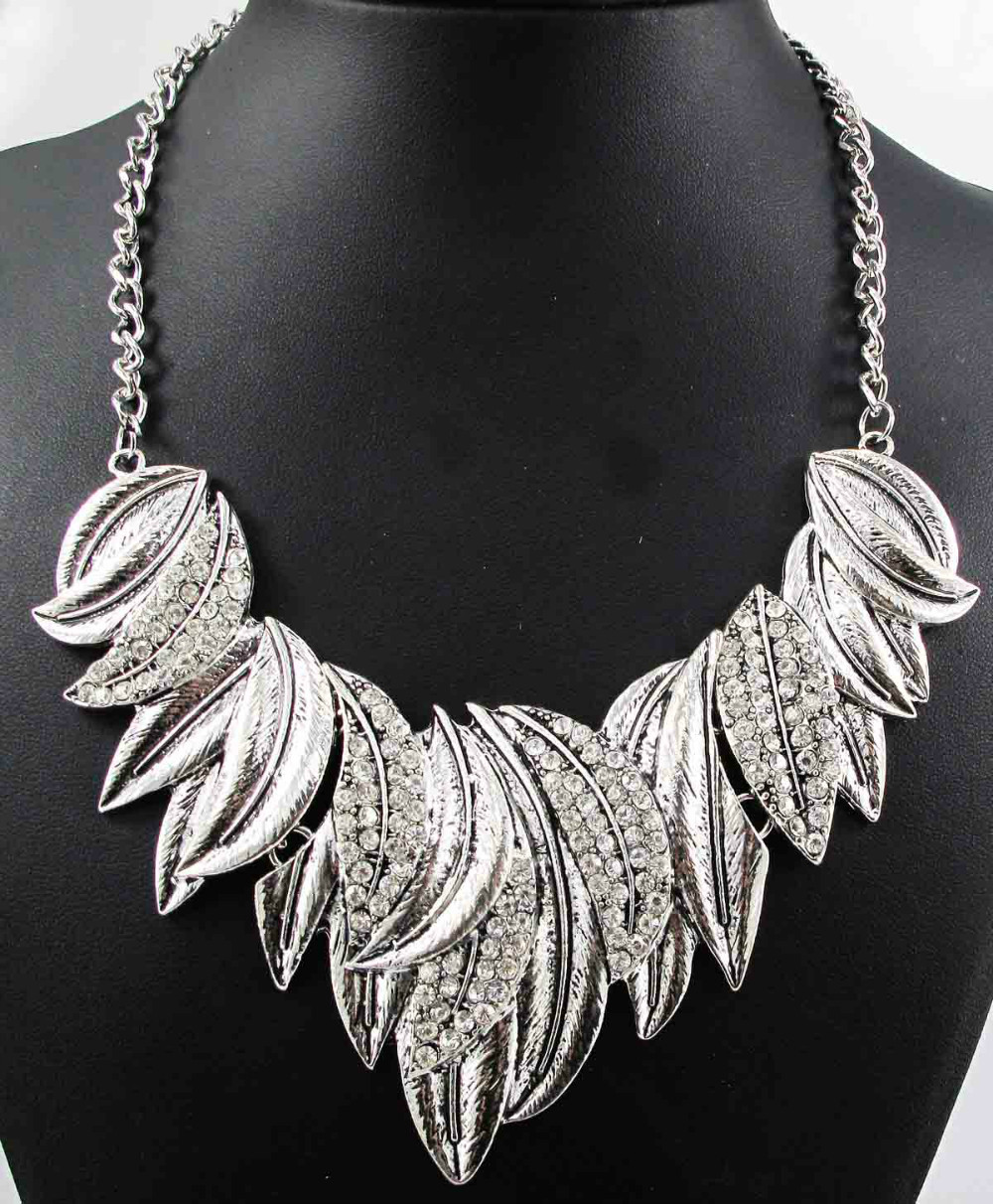 silver Newest Gorgeous Fashion Necklace Jewelry crystal ...