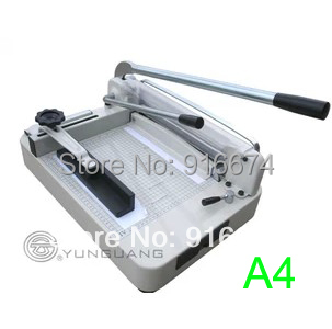 Fast free shipping Discount Heavy Duty A4 Size Stack Paper Cutter Ream Cutting Machine Trimmer YG 868 A4 visad scissors portable paper trimmer paper cutting machine manual paper cutter for a4 photo with side ruler