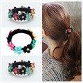 Women 2016 Flower Headband Supreme Beadband floral headband Elastic rubber Band Fashion