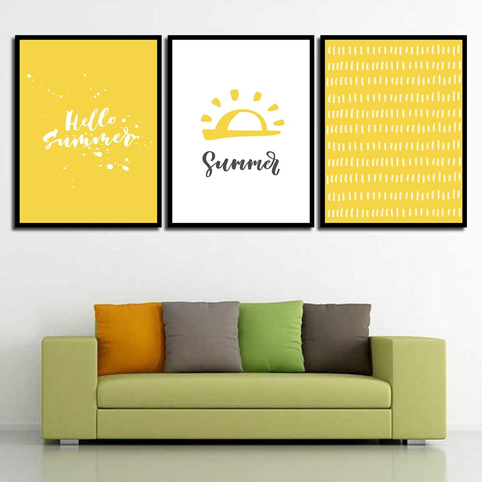 Hot Sale Yellow Background Hat Modern Canvas Hd Paintings Wall