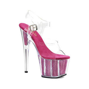 7600bf63262 15 cm shiny platform sandals sexy nightclub pole dancing shoes transparent  banquet