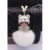 Nueva cubre llaves llaves Monchhichi llavero esponjoso 8 CM de tamaño de cristal bola de piel de zorro llavero porta chiavi rhinestone llaveros