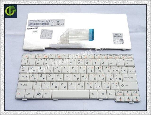 Русская Клавиатура для IBM LENOVO IdeaPad S11 S10-2 S10-2C S10-3C БЕЛЫЙ RU клавиатура ноутбука
