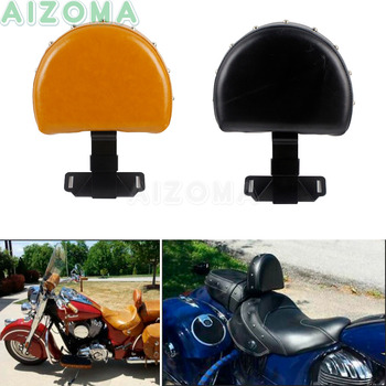 Black/Brown Motorcycle Stud Adjustable Driver Rider Backrest with Fold Stand For Indian Chief Chieftan Quick Release 2014-2018