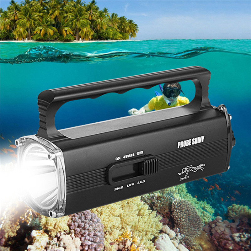 Cycling Bicycle Front Head Torch 8000LM XM-L2 T6 LED Scuba Diving Underwater 100M Waterproof Flashlight Bike Accessories scuba dive light