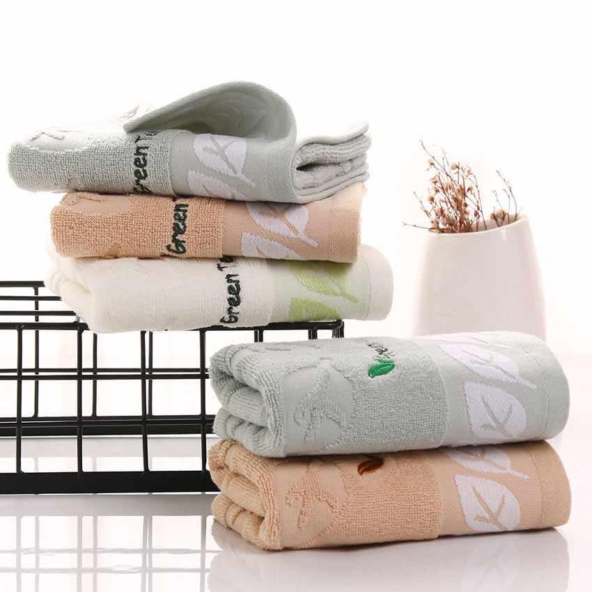 Miękki ręcznik do twarzy 100% CottonTea liście drukowane Hotel sportowe ręka uroda twarz ręcznik kąpielowy domu dla dzieci dorosłych absorpcji wody